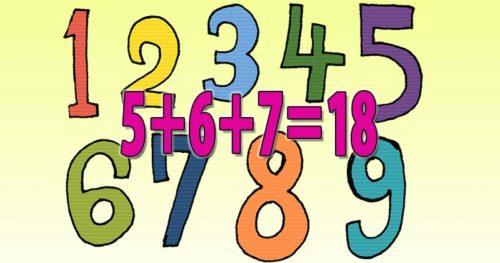 5+6+7=18