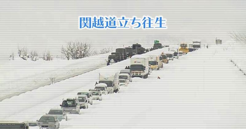 関越道の大雪 立ち往生を生き抜くたくましさ