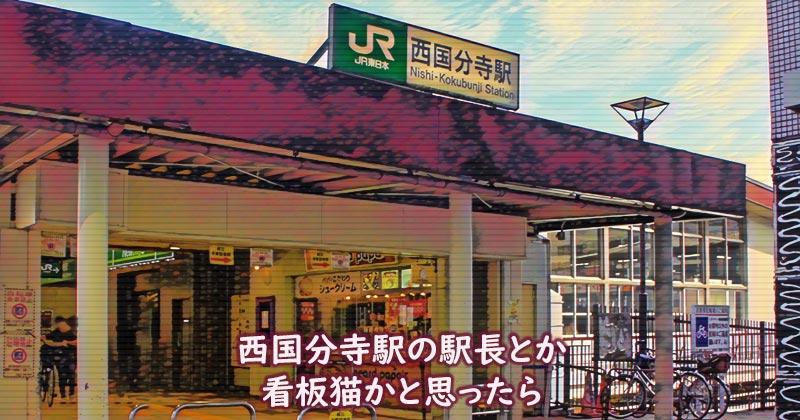 猫のももちゃん、西国分寺駅の駅長とか看板猫かと思ったら